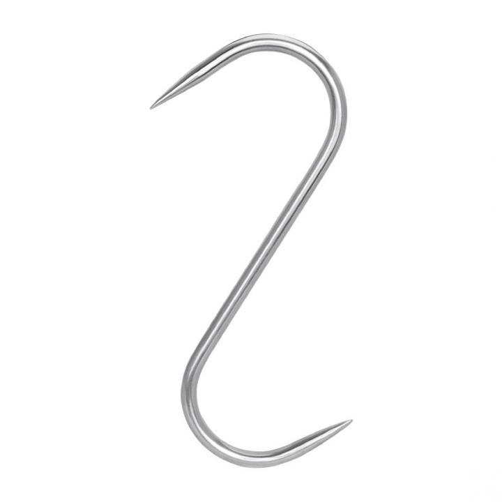Крюк для мяса S-образный 6х180 мм с двусторонней заточкой нержавеющий