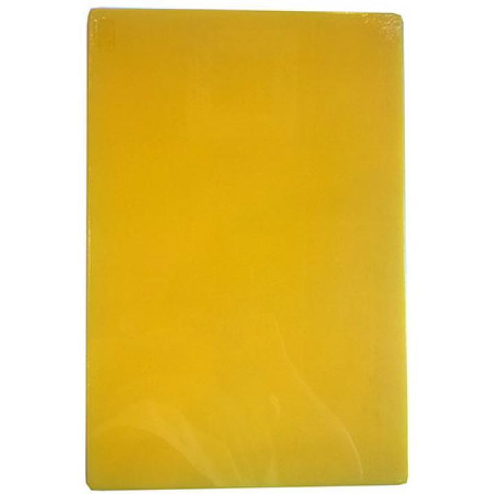 Доска разделочная 450х300х12 мм, желтая