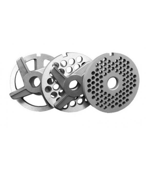 Комплект ножей и решеток без бурта для мясорубок МИМ-300 / 300М / 350