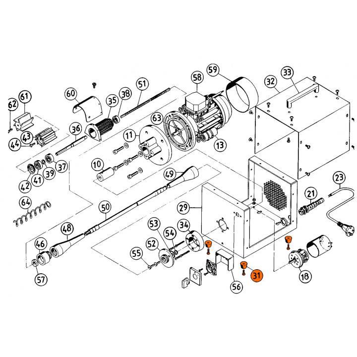 № 31 Резиновый амортизатор для рыбочистки KT-S