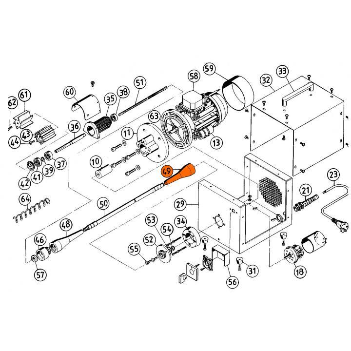 № 49 Резиновый уплотнитель для рыбочистки KT-S