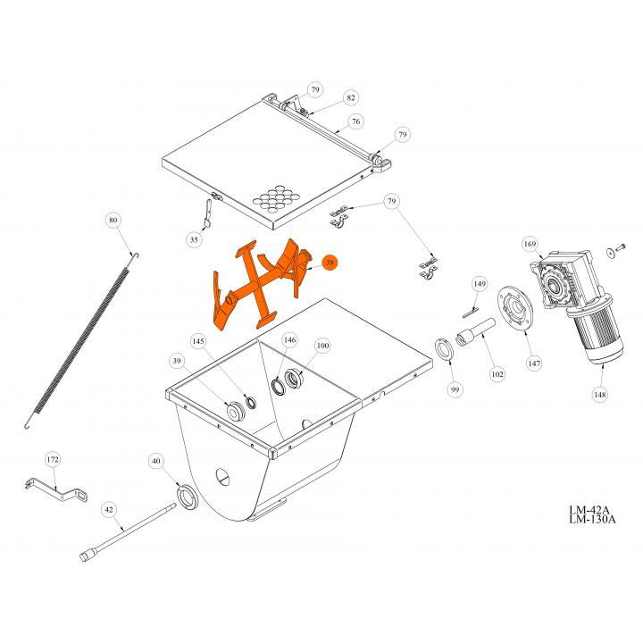 Смеситель для волчка LM-42A / 130A