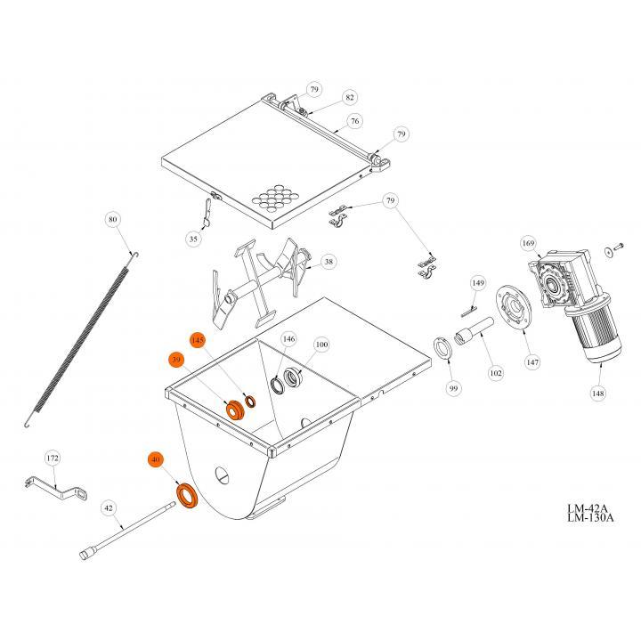Нейлоновый подшипник (маленькое отверстие) для волчка LM-42A / 130A
