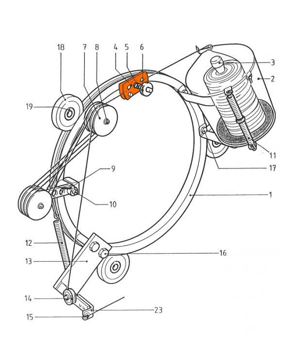Натяжитель струны 121104 для обвязочной машины Wiegand Rollmatic