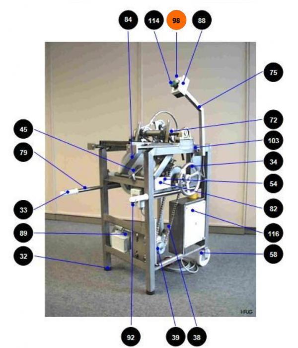 Передняя панель переключателя 272106 для петлевателя Wiegand Hangfix